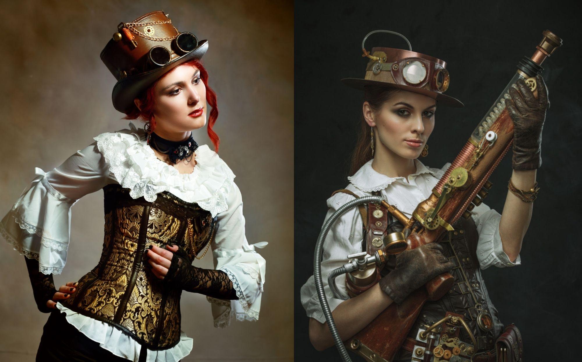 corset steampunk femme