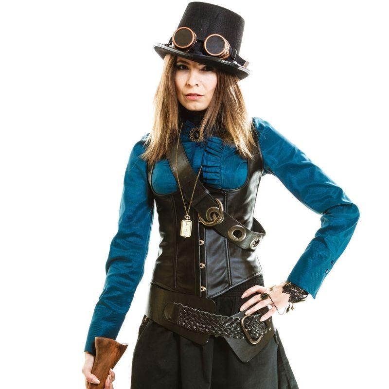 corset steampunk noir